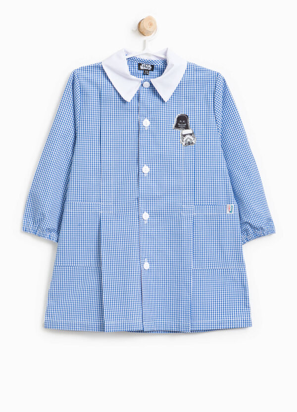 Cotton blend smock with embroidery and bows | OVS