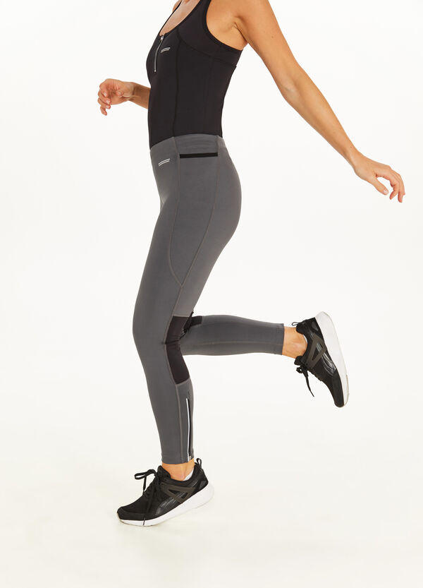 Stretch printed leggings with insert