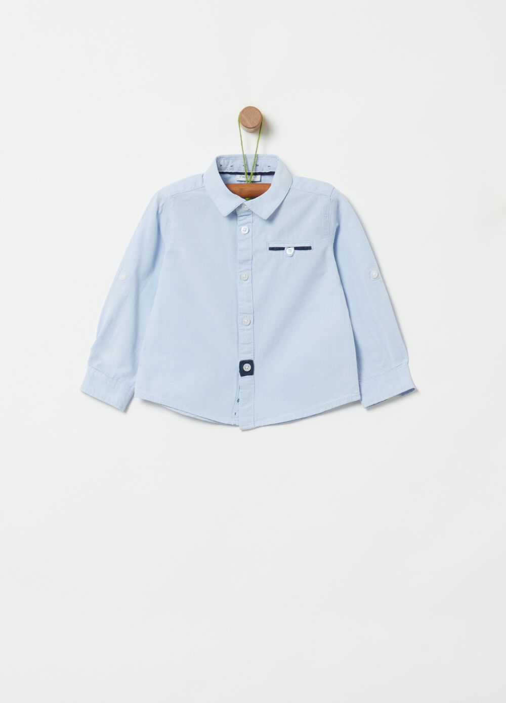 100% organic cotton shirt with pocket