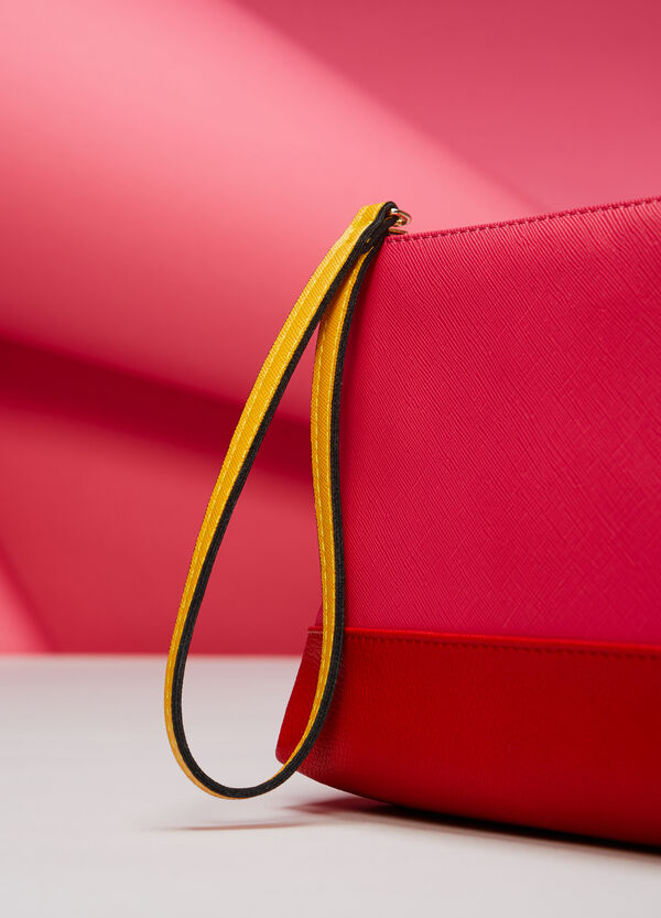 Multicolour envelope clutch