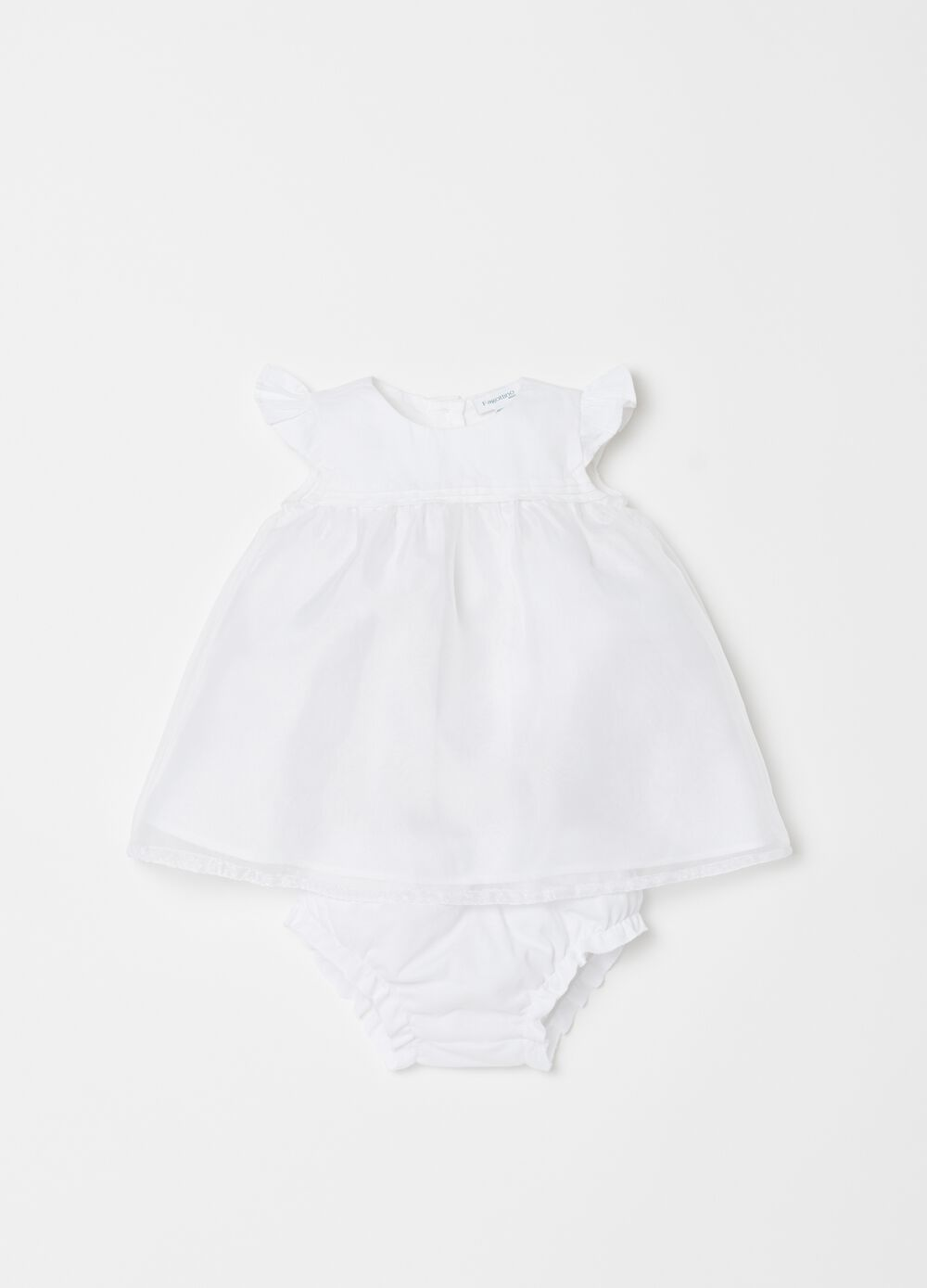 Dress and briefs set with frills