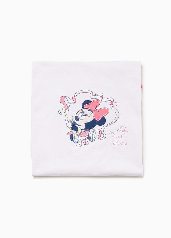 Minnie Mouse blanket in 100% cotton with embroidery