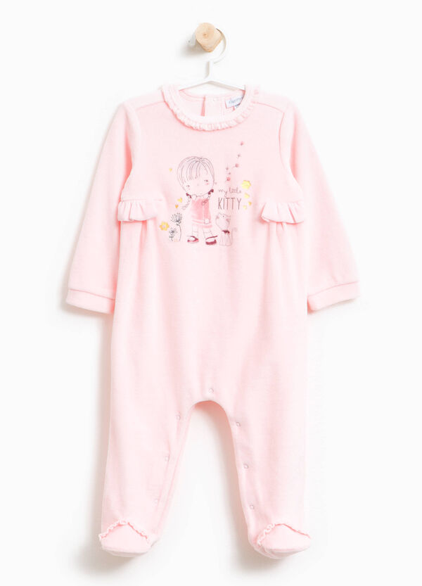 Printed sleepsuit with feet