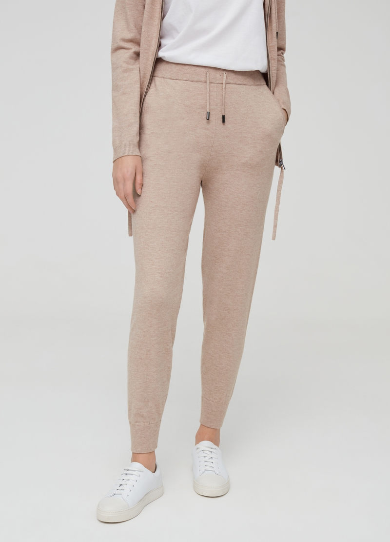 Knitted joggers with drawstring image number null