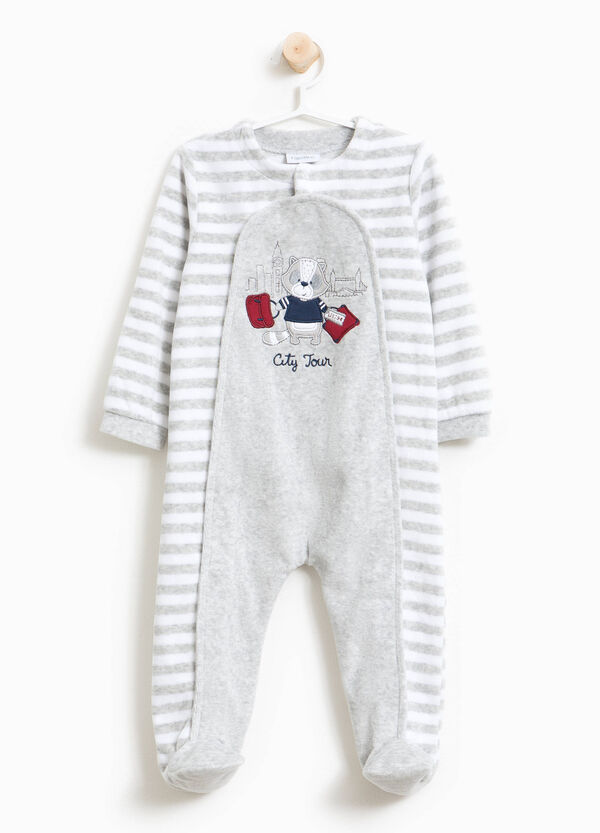 Organic cotton sleepsuit with stripes | OVS