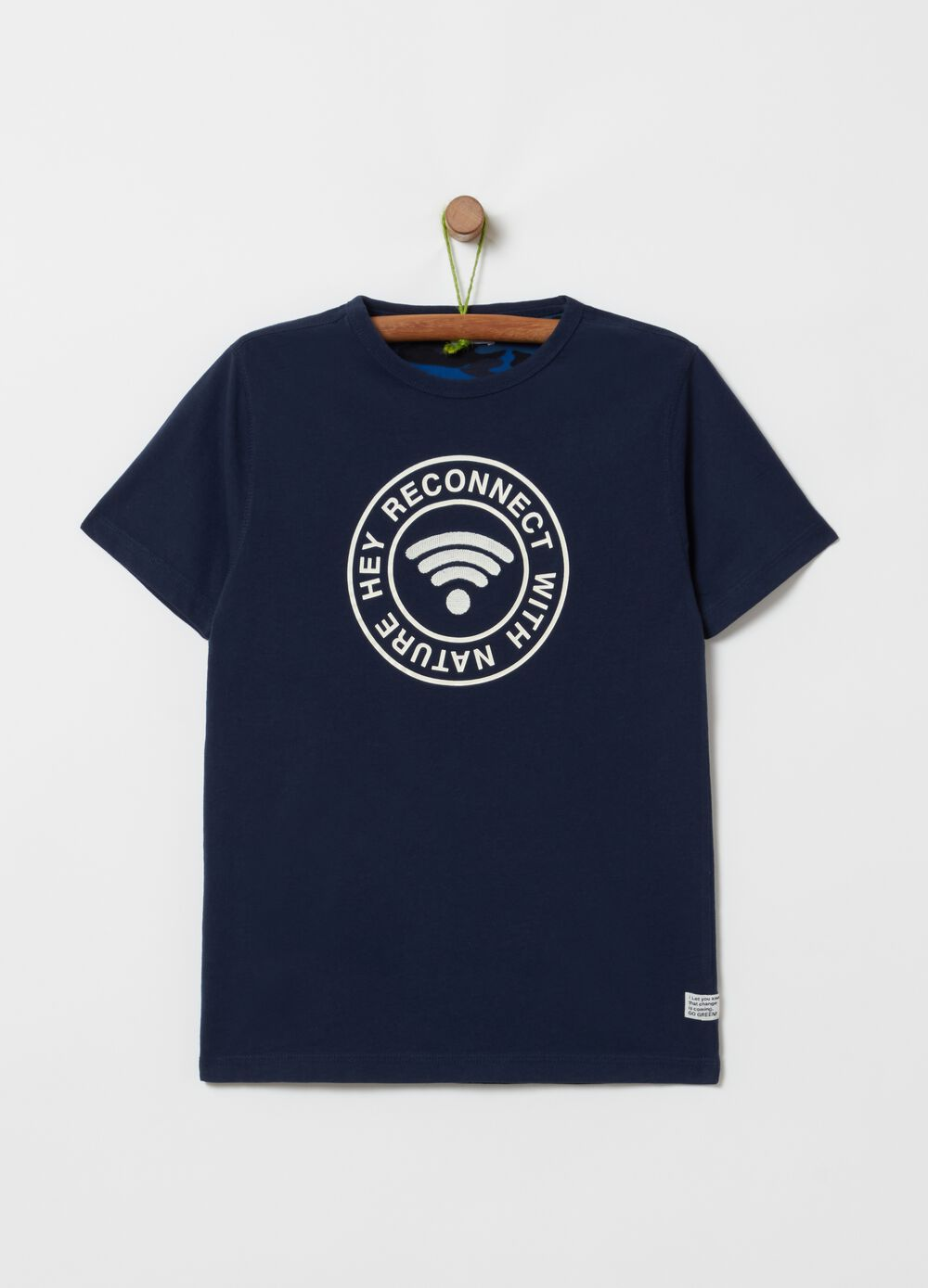 100% cotton T-shirt with print and embroidery