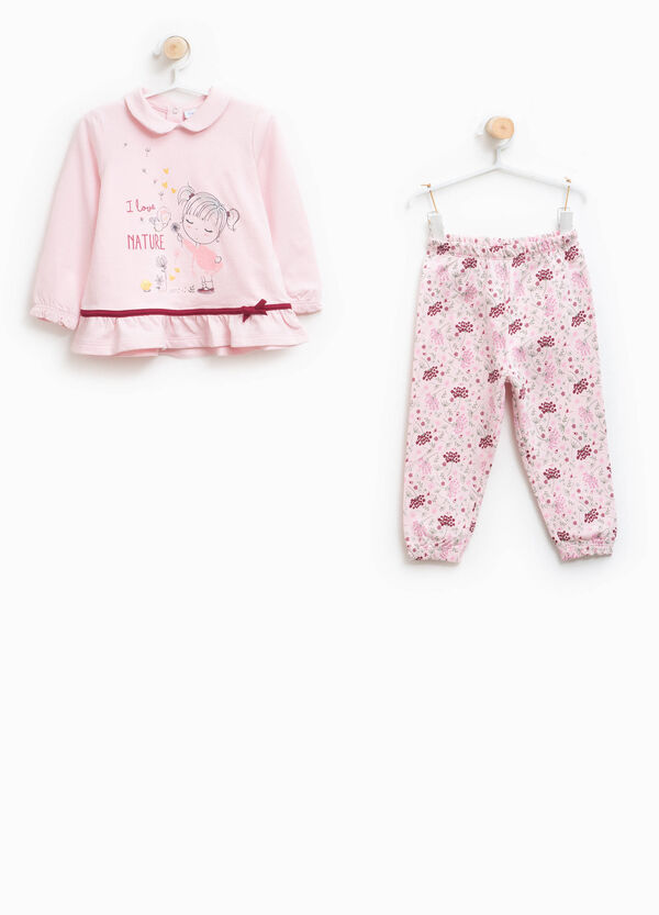 Pyjamas 100% cotton with rounded collar | OVS