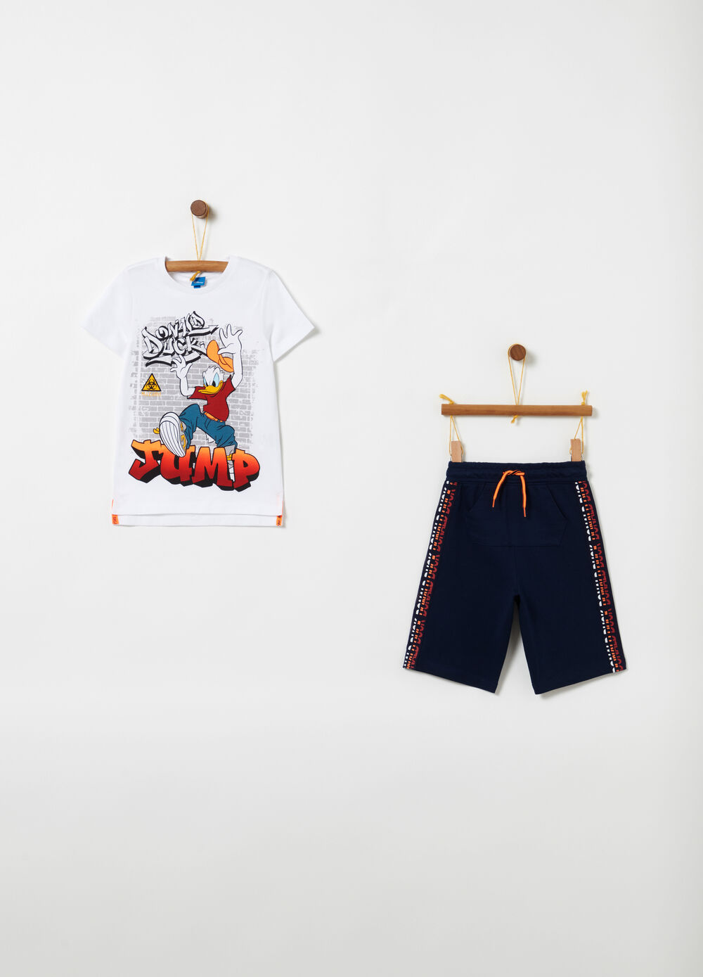 Disney jogging set with T-shirt and drawstring shorts