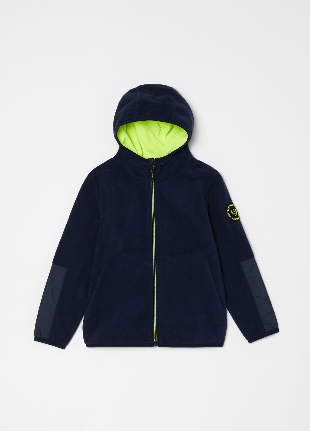 Fleece full-zip sweatshirt with functional pockets