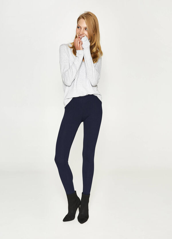 Solid colour stretch leggings | OVS