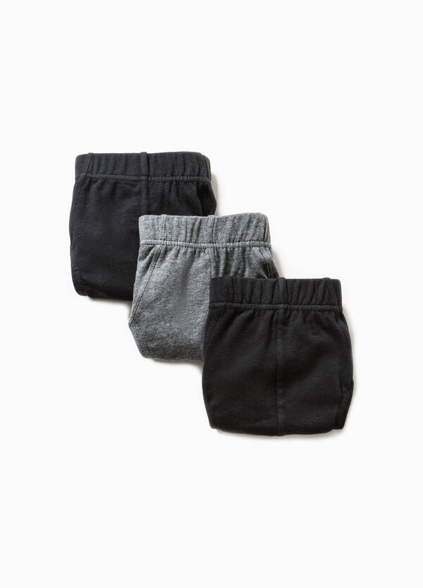 Three-pack solid colour stretch cotton briefs