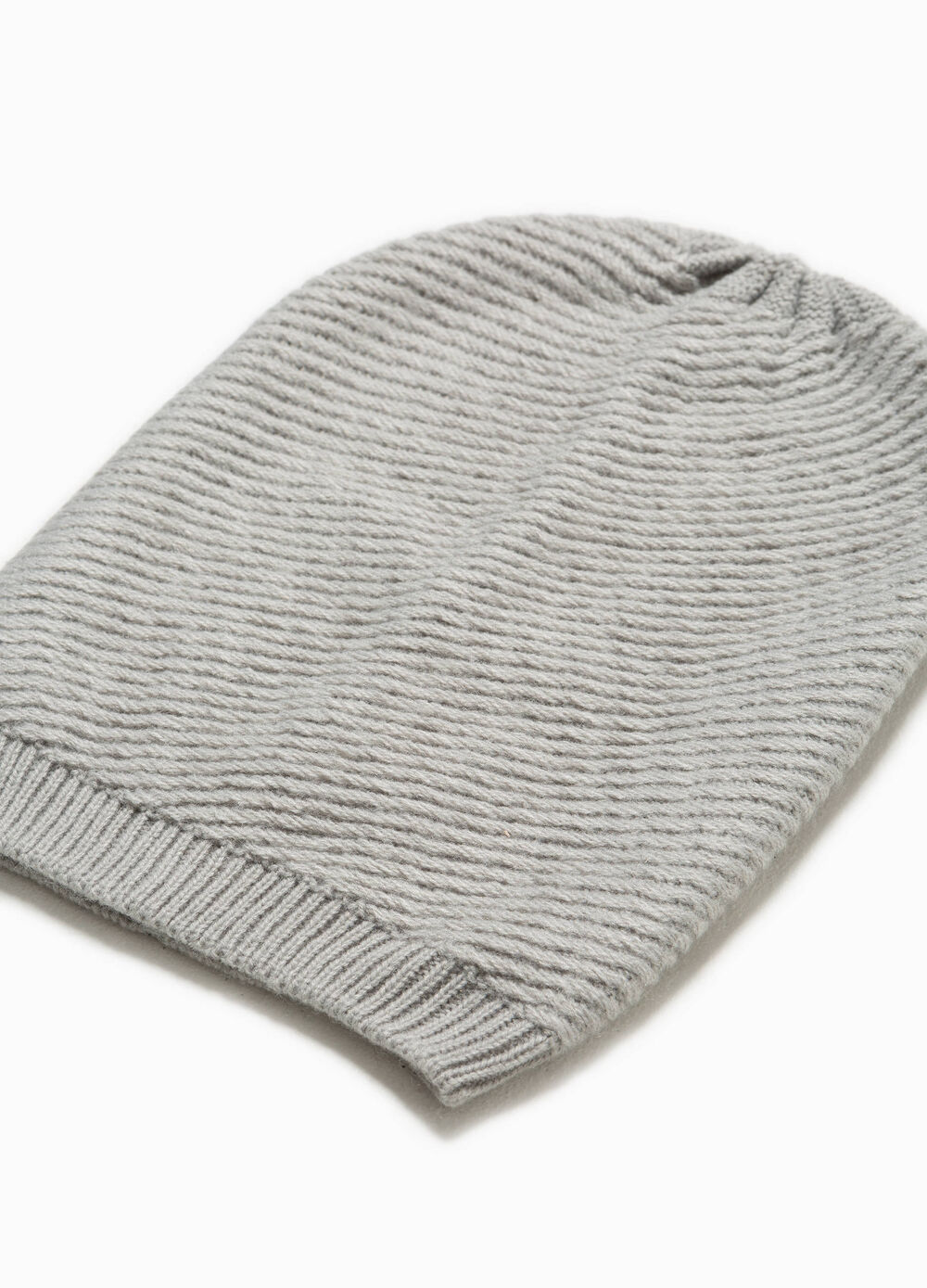 Striped beanie cap