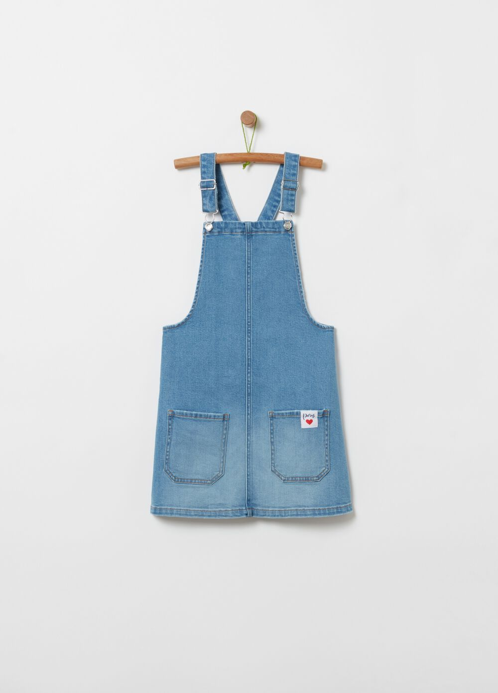 Pinafore in stretch denim