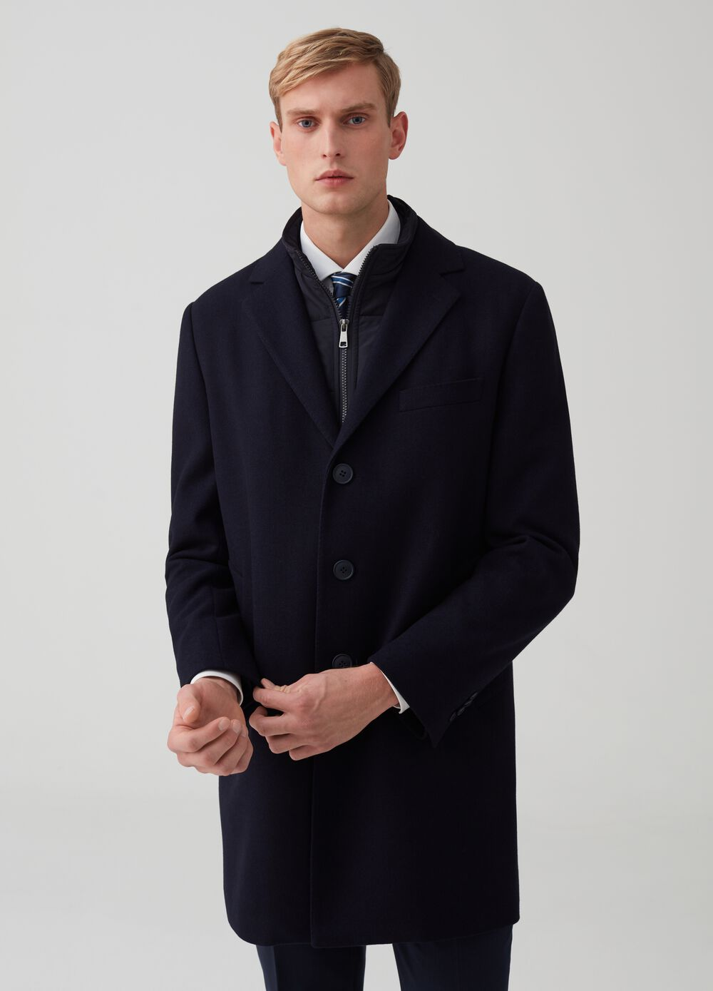 Regular-fit coat with pockets