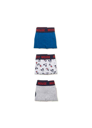 Three-pack boxer shorts with Mickey Mouse pattern