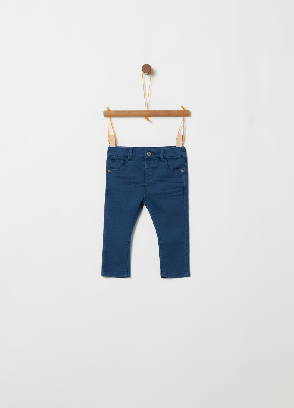 Terry towelling regular-fit trousers