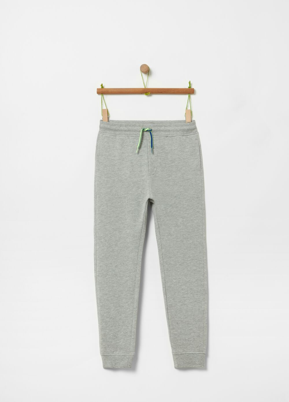 Cotton and viscose mélange joggers