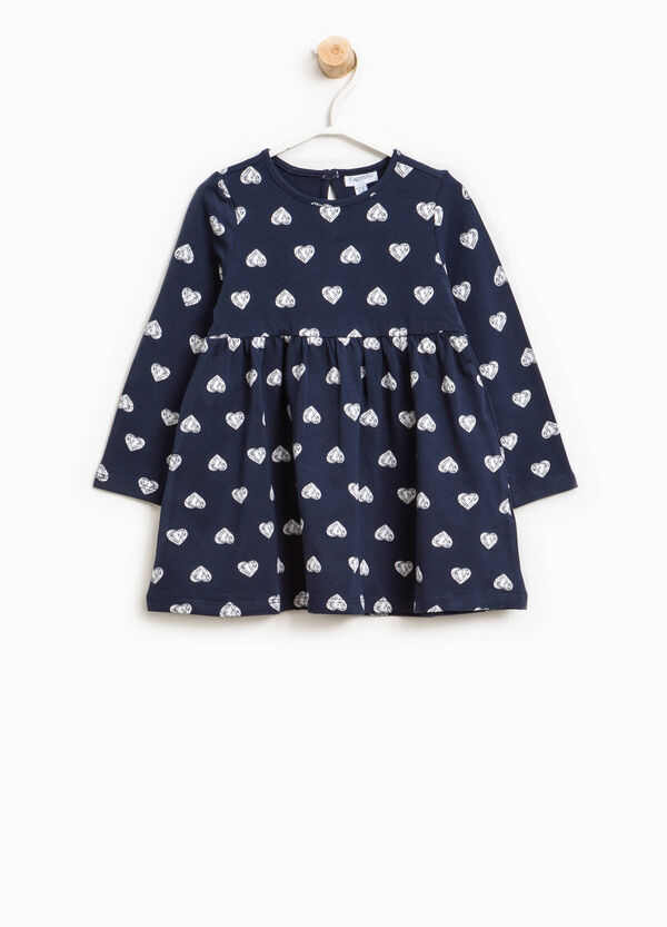 Cotton dress with hearts print | OVS