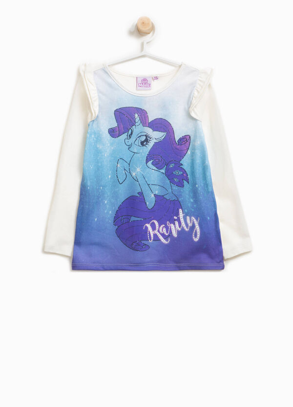 T-shirt con volant e stampa My Little Pony