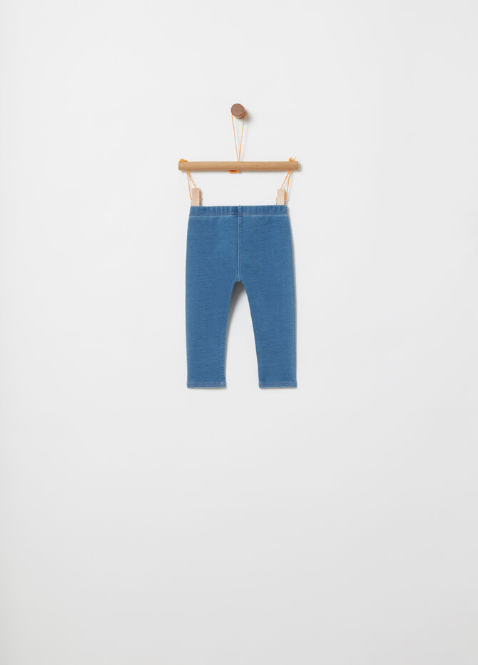 BCI cotton jeggings with side bands