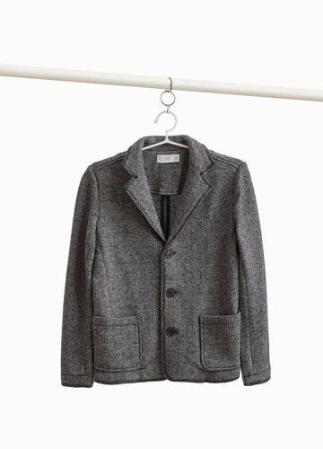 Cotton blend mélange jacket