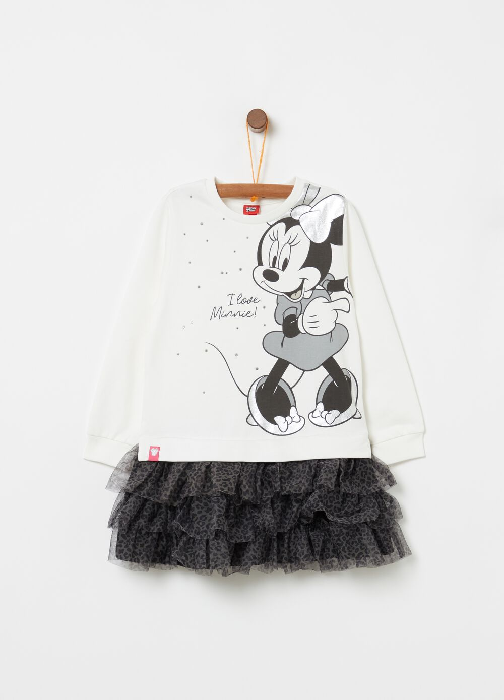 Minnie Mouse dress with flounced skirt