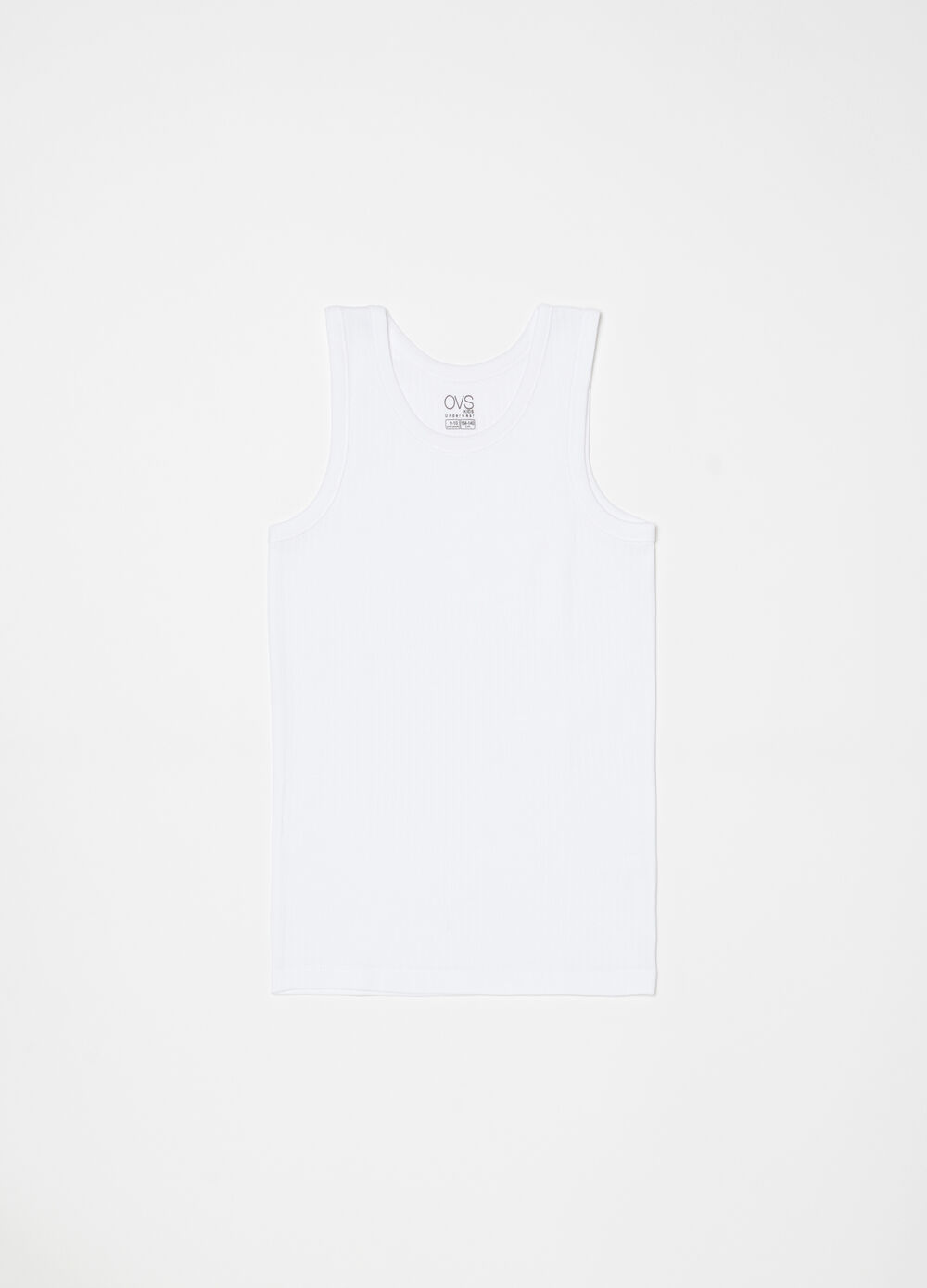 100% organic cotton vest with wide straps