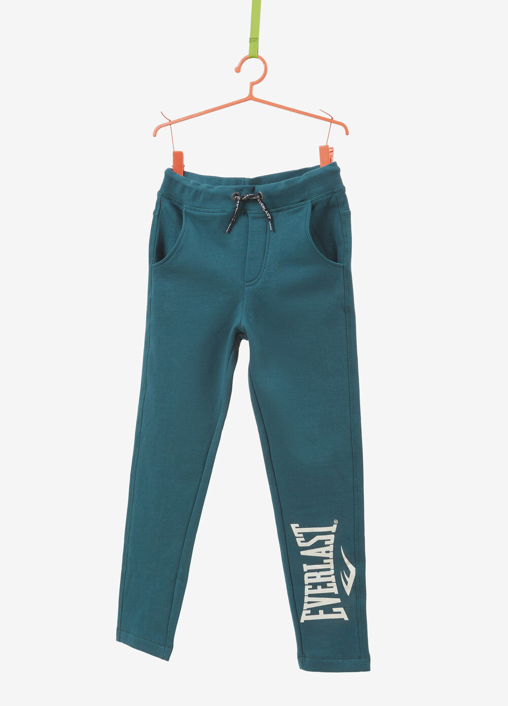 Trousers in 100% cotton with Everlast print