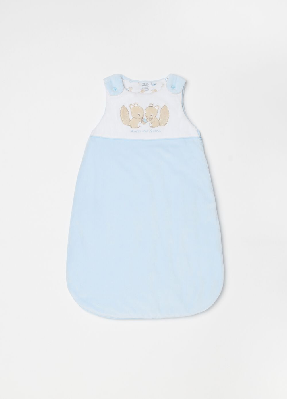 Sleeveless dress with embroidery and zip
