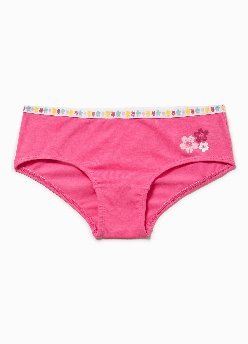 Printed stretch Biocotton French knickers