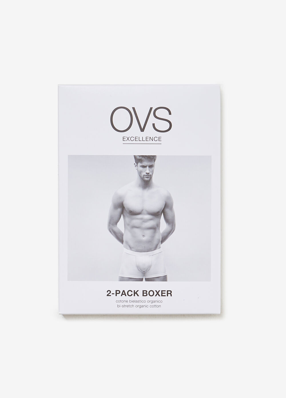 Two-pack boxers in two-way stretch organic cotton