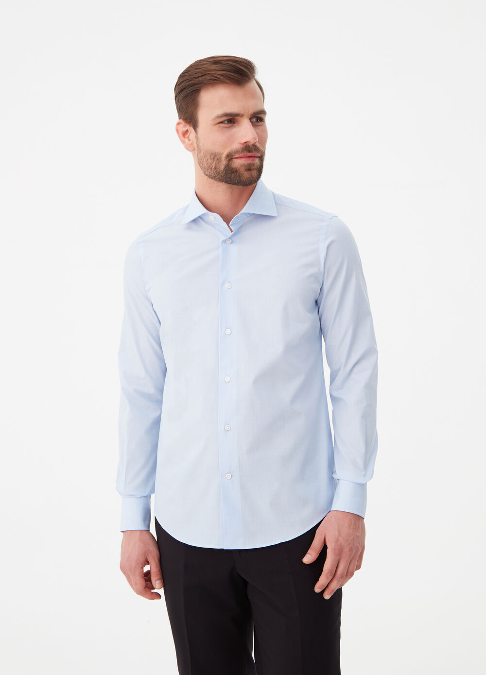 Camicia slim fit colletto alla francese