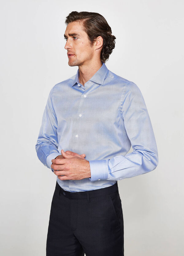 Camicia formale slim fit in puro cotone