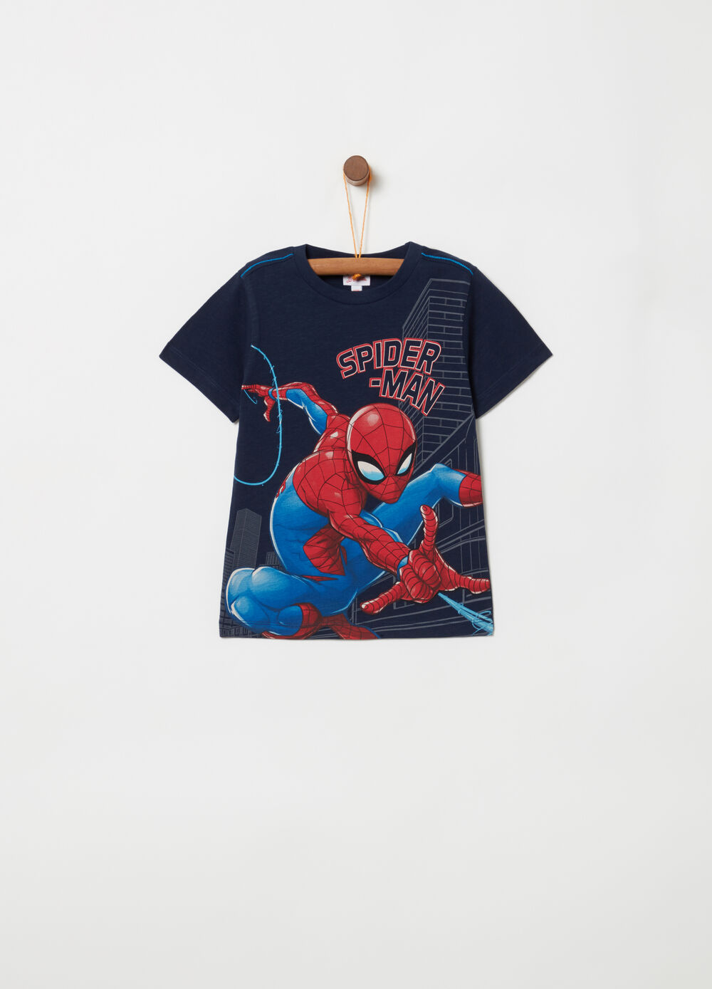 Marvel Spider-Man T-shirt with ribbing