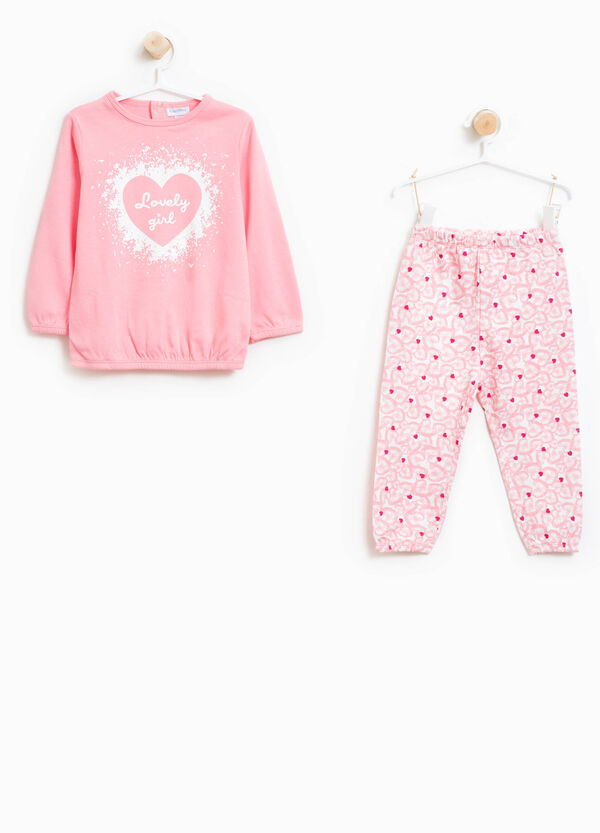 Organic cotton hearts pyjamas | OVS