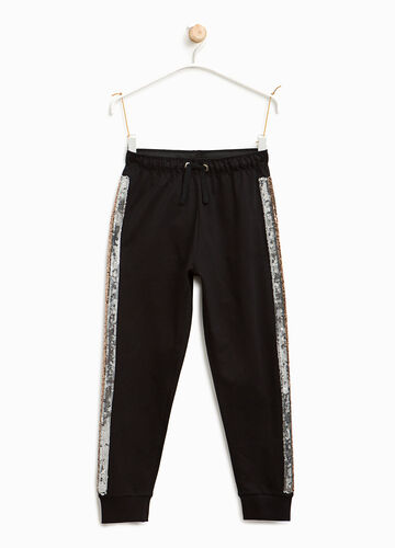 Joggers with sequin bands