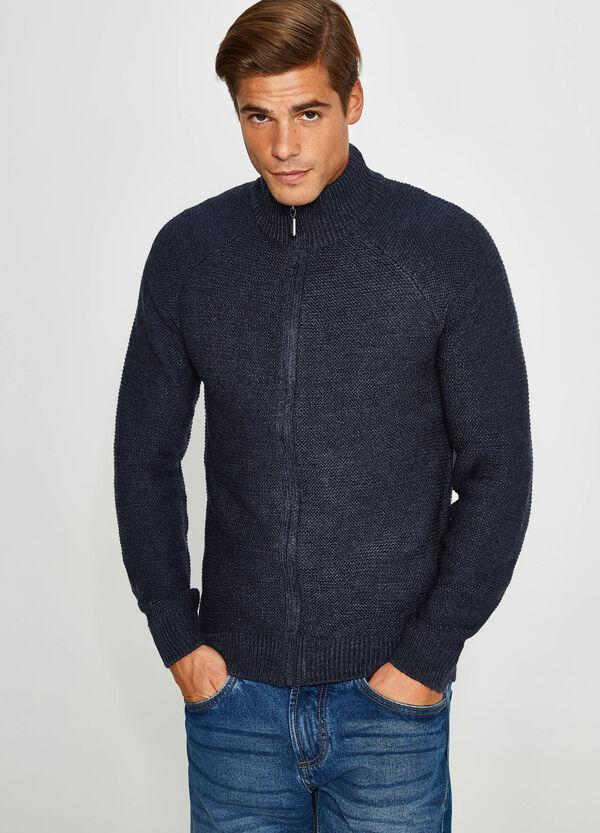 Knit cardigan with zip | OVS
