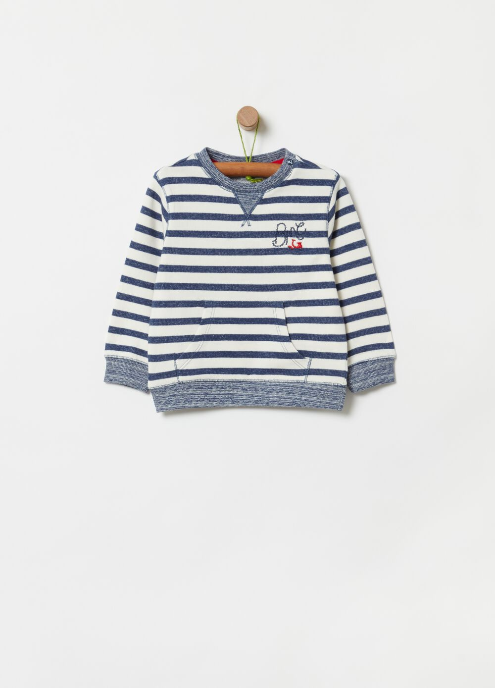 100% organic cotton sweatshirt with stripes