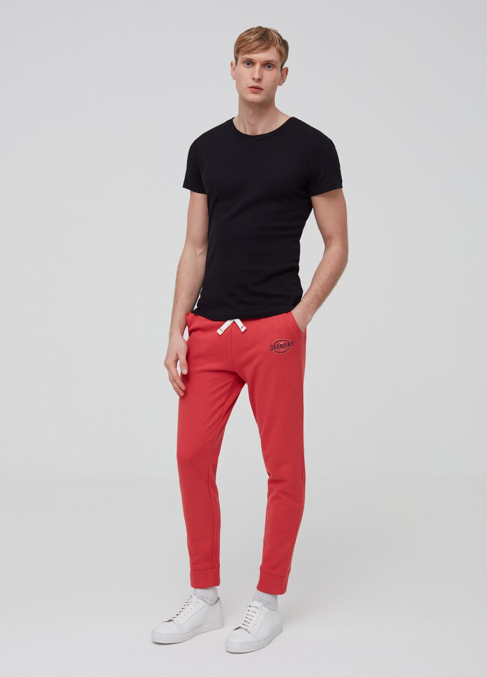Organic cotton jogger trousers