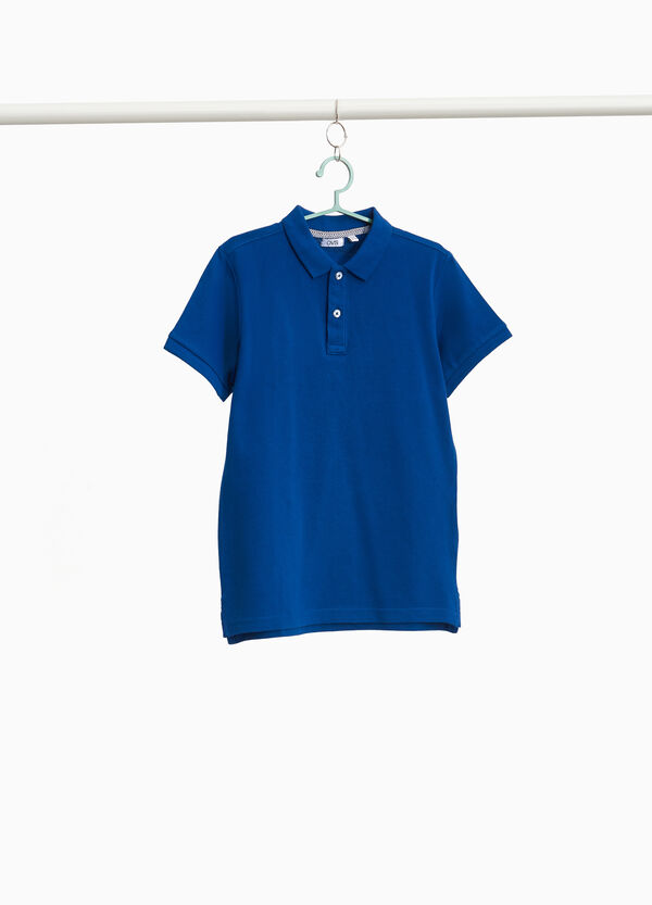 Solid colour polo shirt in 100% cotton