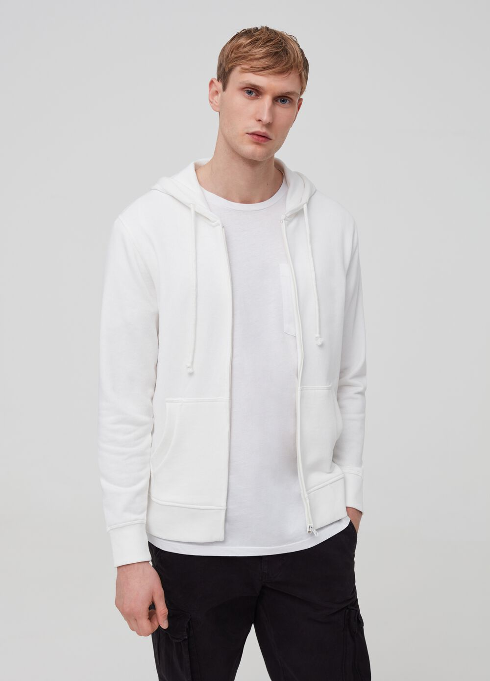 Solid colour hoodie
