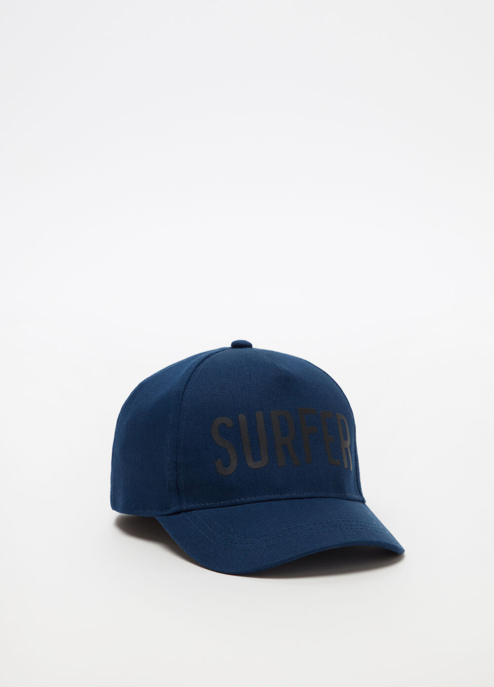 Cotton baseball cap with surf print