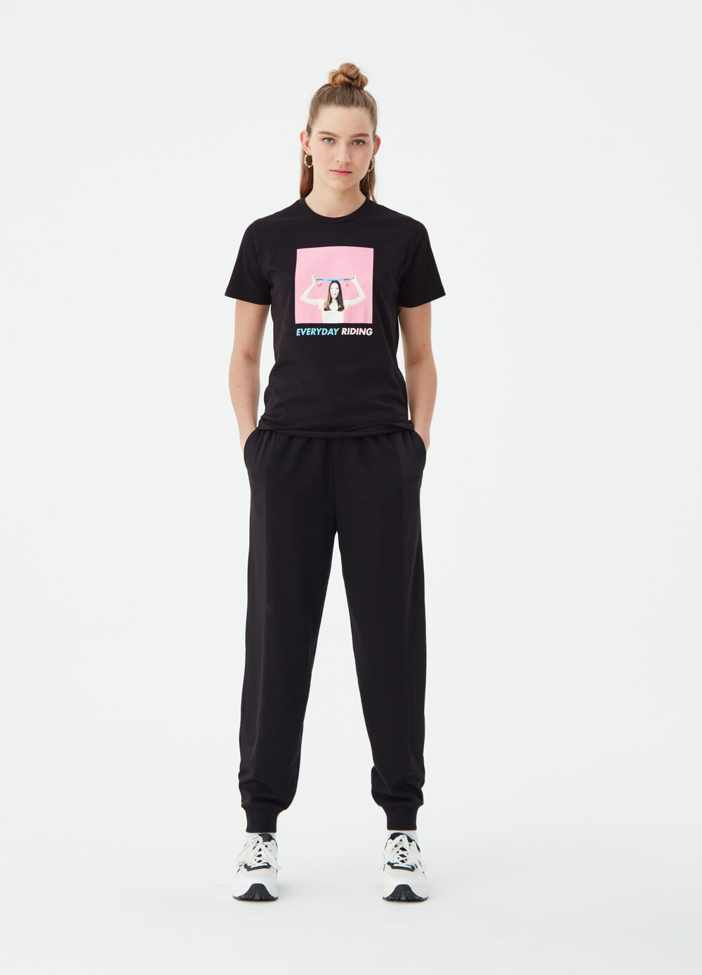 Basic T-shirt with photographic print