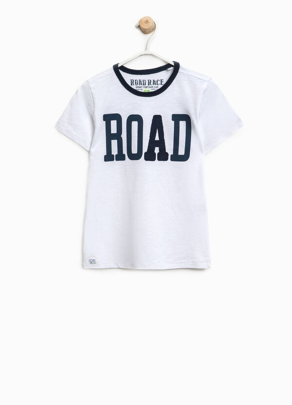 T-shirt in cotone con stampa lettering | OVS