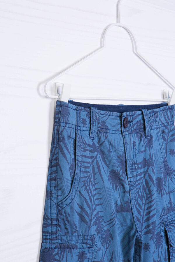 Cotton Bermuda shorts with print and pockets   OVS