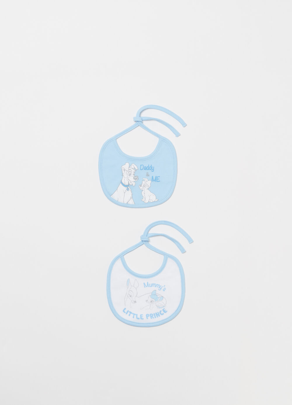 Two-pack Disney bibs in lined cotton