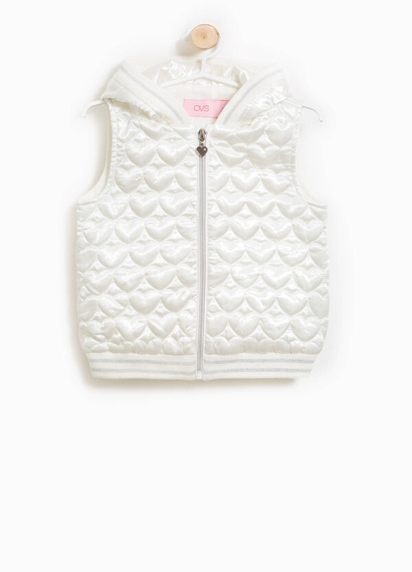 Padded gilet with quilted hearts | OVS