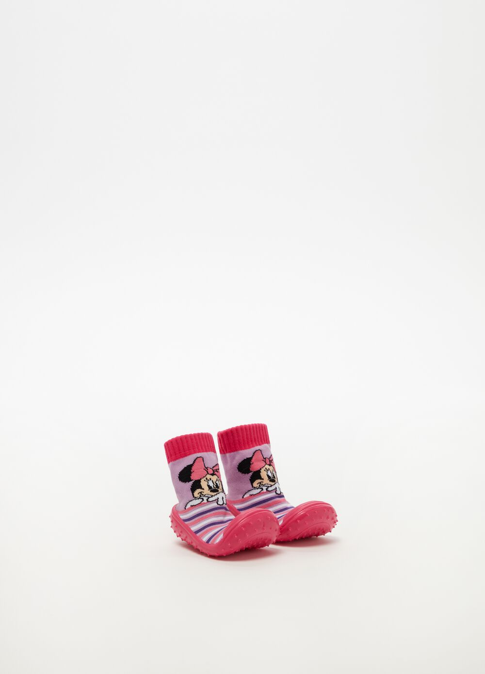 Shoes with Minnie Mouse and striped pattern