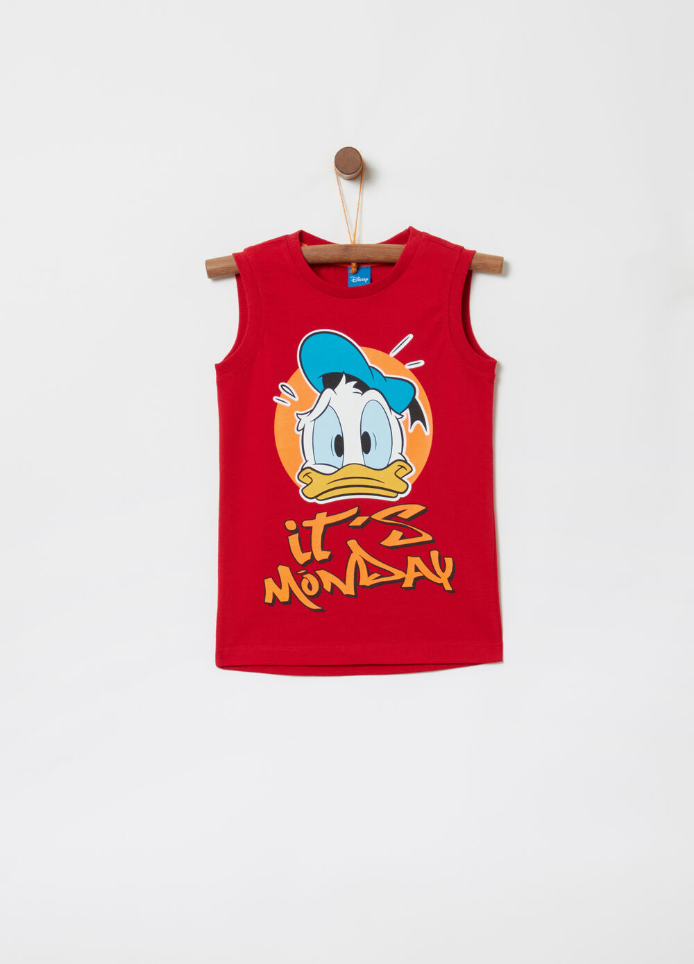 Cotton racerback vest with Disney Donald Duck print