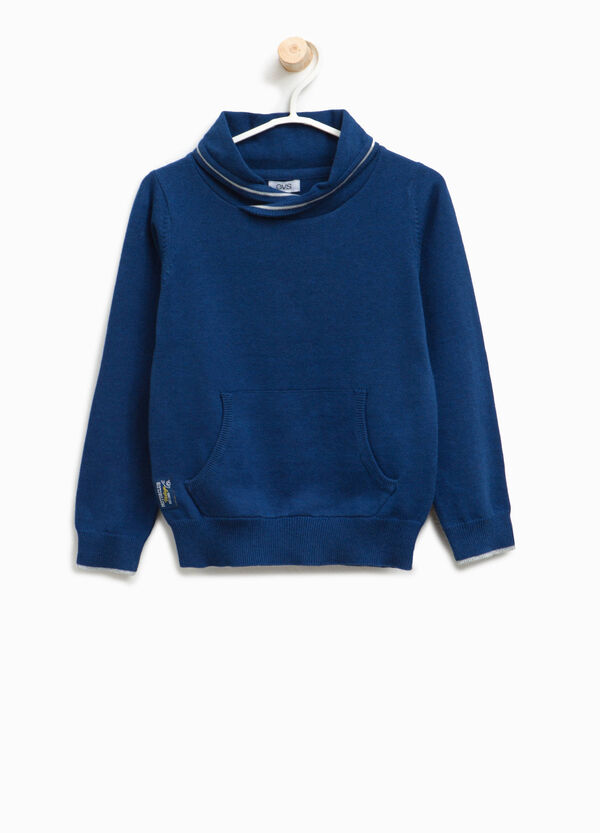 Pullover with high crossover neck | OVS